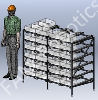 gravity flow racks for factory