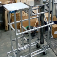 cart table for work with conveyor