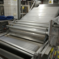 Accumulating Plastic Tray Conveyor